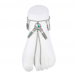 Tribal Dreamcatcher Turquoise Metal Anklet Toe Slave Chain,