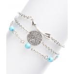 Burnished Arrow Silvertone & Turquoise Openwork Bracelet Set