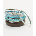 Turquoise & Silver Bangle Set