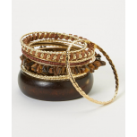 Brown & Gold Bangle Set
