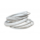 White Enamel Textured Multi Bangle Set