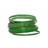 Green Enamel Textured Multi Bangle Set