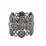 Burnish Pave Grey Caviar Glitter Stone Boho Glitz Stretch Bracelet