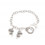 Partners In Crime Handcuff Hand Cuff BFF Best Friends Forever Bracelet.