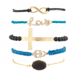 Love Infinity Cross Arm Candy Bracelets (5 PC)