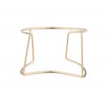 Gold Tone Open Cutout Geo Wire Cuff Bracelet