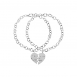 Partners in Crime BFF Best Friends Heart Charm Bracelets (2 PC)