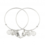 Best Friends Forever BFF Charm Bracelet Set (2 PC).