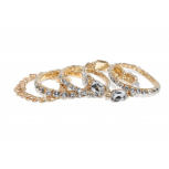 Crystal Stretch Chain Link Arm Candy Bracelet Multi Set