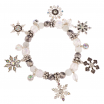Snowflake Christmas Xmas Snow Flake Braded Charm Bracelet