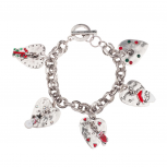 Santa Claus Is Coming To Town Heart Snowman Gift Stocking Xmas Christmas Charm Bracelet