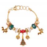 Reindeer Heart Lock Charm Bracelet Xmas Christmas Tree