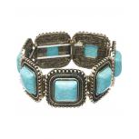 Turquoise Milgrain Stretch Bracelet