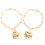 To Infinity & Beyond Galaxy BFF Best Friends Forever Bracelet Set (2 PC)