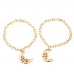 To The Moon & Back Galaxy BFF Best Friends Forever Bracelet Set (2 PC)