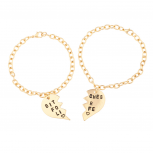 Bitches for Life Heart BFF Best Friends Forever Bracelet Set (2 PC)