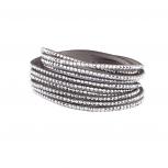 Grey Bling Wrap Bracelet