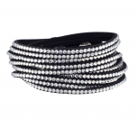 Black Bling Wrap Bracelet