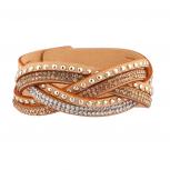 Tan Gem Wrap bracelet