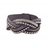 Grey Gem Wrap Bracelet