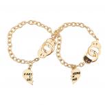 2 Piece Partners In Crime BFF Handcuff Bracelet Set