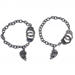 HematiteTone Partners in Crime BFF Best Friends Bracelet Set 2PC