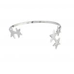 Silver tone Celestial Star Cuff