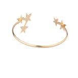 Gold tone Celestial Star Cuff