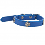 Tag Pet Collar for Small Leash Dogs and Cats Blue