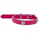 Tag Pet Collar for Small Leash Dogs and Cats Pink