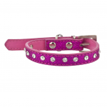 Tag Pet Collar for Small Leash Dogs and Cats Sparkle Pink