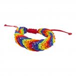 Rainbow Gay Pride Parade Macrame Cord Gay Lesbian LGBT Bracelet