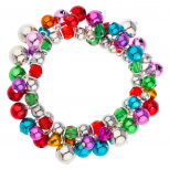 Multi Color Jingle Balls Christmas Xmas Beaded Bracelet