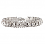 Bridal Pave Crystal Simple Elegant Bride Bridesmaid Clasp Bracelet