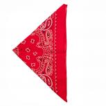 Red Paisley Printed Bandana Scarf
