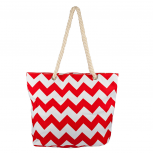 Womens Extra Large Zip Up Beach Tote Bag Orange Red White