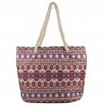 Womens Extra Large Zip Up Beach Tote Bag Persian Multi