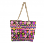 Lux Accessories Womens Zip Up Beach Bag Aztec Multi