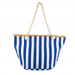 Lux Accessories Womens Zip Up Beach Bag Navy Stripes