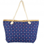 Lux Accessories Womens Zip Up Beach Bag Navy Mix