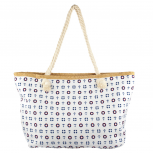Lux Accessories Womens Zip Up Beach Bag Anchor Mix