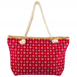 Lux Accessories Womens Zip Up Beach Bag Red Anchor