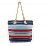 Lux Accessories Womens Zip Up Beach Bag Nautical