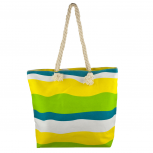 Lux Accessories Womens Zip Up Beach Bag Yellow Mix