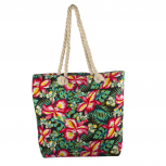 Lux Accessories Womens Zip Up Beach Bag Forest Print