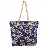 Lux Accessories Womens Zip Up Beach Bag Blue Floral