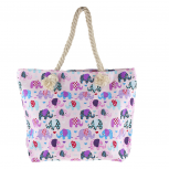 Women's Colorful Multi Elephant Print Tribal Tote Beach Bag