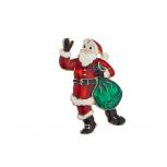 Holiday Christmas Xmas Red White Green Black Santa Brooch Pin