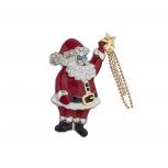Holiday Christmas Xmas Santa Shooting Star Brooch Pin