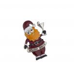 Holiday Cheer Christmas Xmas Santa Cocktail Brooch Pin
